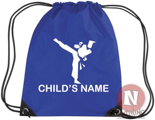 Personalised Martial arts karate judo kit bag add child/'s name Drawstring