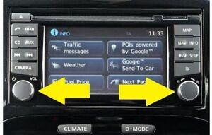 New-Nissan-Qashqai-Juke-Radio-Knob-Button-Volume-Stereo-Tuner-Power-CONNECT-2