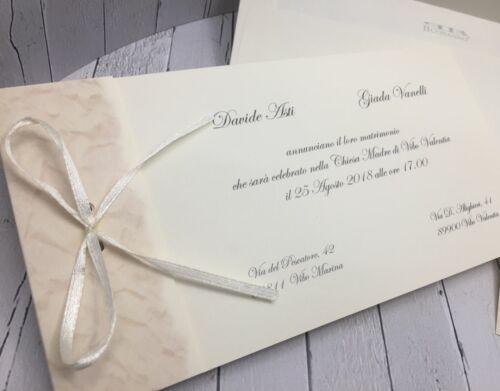 Details about  /PARTECIPAZIONI NOZZE inviti matrimonio BUONANNO S025 sposi