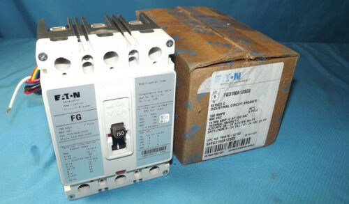 NEW FG3150A12S03 EATON 3 POLE FG BREAKER 150 AMP W AUX SW & ST FOR GENERAC