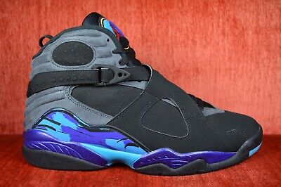 timeless design 6e6de 07ae2 CLEAN Air Jordan Retro 8 Aqua Size 9 305381 025 2015 Release Black Blue  Purple | eBay
