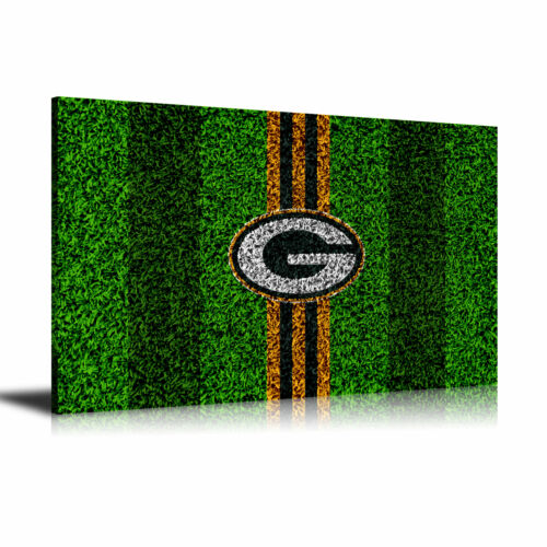 HD Print Oil Painting Wall Art on Canvas Green Bay Packers 24x36iunch Unframed