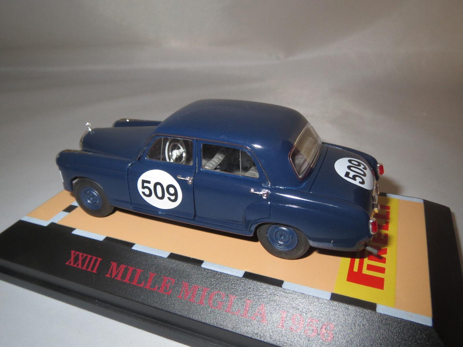 FALLER Mercedes-Benz 220s (ponton) Mille Mille Mille miglia  1956   509 (bleu) 1 43 OVP b1b101