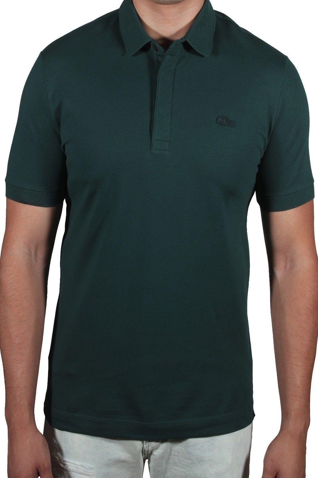 Lacoste Men's Paris Edition Regular Fit Polo Shirt Stretch PH5522-51 E76 Aconit