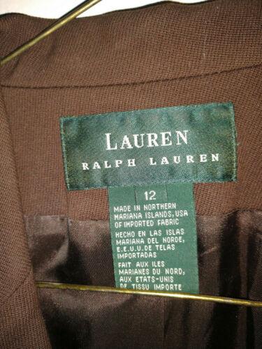 Ralph Size Blazer Brown Wool 12 Lauren AqwvAf