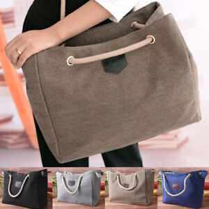 Women Canvas Shoulder Bag Messenger Girl Purse Satchel Tote ... 7b179323b