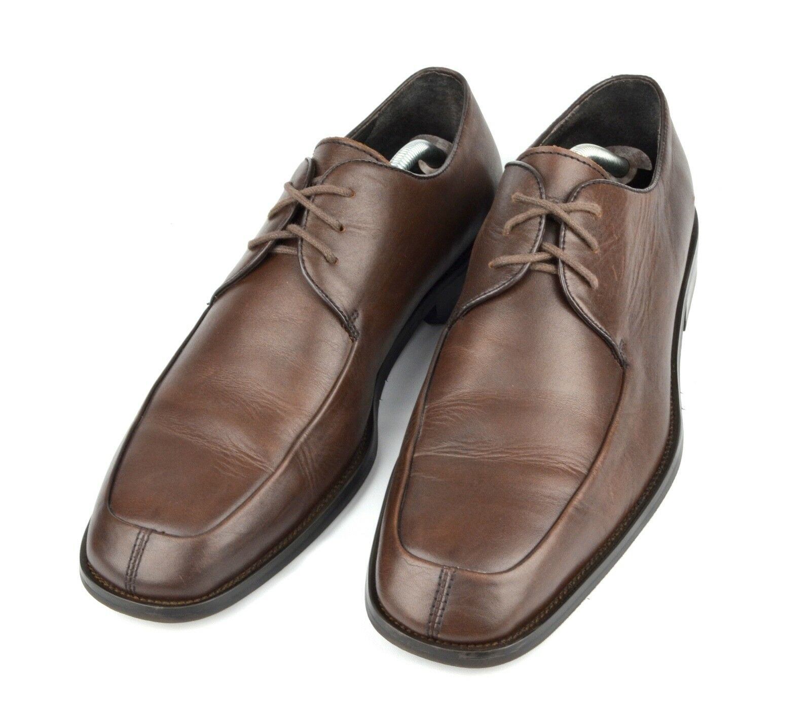 WILKE RODRIGUEZ Men's Oxford Split-Apron Toe Sz. 9.5 Brown Leather Dress shoes