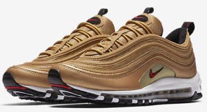Details about Nike Air Max 97 OG QS Metallic Gold Varsity Red 884421 700 & GS 100%AUTHENTIC