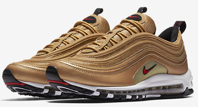 Nike Air Max 97 OG QS Metallic Gold Varsity Red 884421 700 & GS 100%AUTHENTIC | eBay