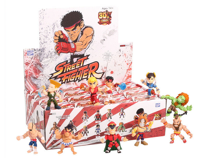 """THE LOYAL SUBJECTS STREET FIGHTER 3"""" Action Vinyls Sealed Case of 16 MISB"""