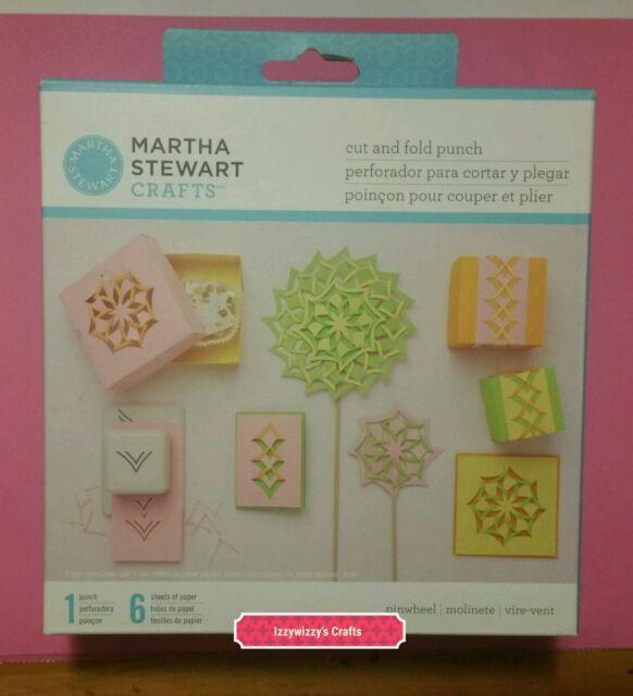 Martha Stewart Cut And Fold Pinwheel Paper Craft Punch New 1600 Ebay