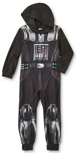 68a1c1865 Details about Star Wars Darth Vader COSTUME Fleece Pajamas Boy s 8 NeW  Zip-Up Pjs NWT Twins