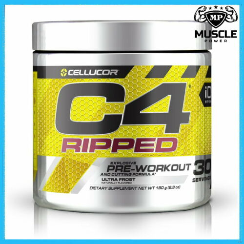 CELLUCOR C4 RIPPED 30 SERVINGS PRE WORKOUT /& FAT BURNER ENERGY BETA ALANINE