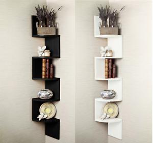2-3-5-Tier-Floating-Wall-Shelves-Corner-Shelf-Storage-Display-Bookcase