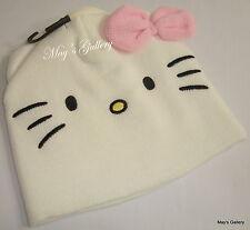 Hello Kitty Cap Hat Beanie Beanies Earmuffs Earmuff   Bow H & M NWT  4 -8  yrs