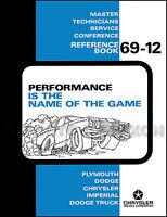 1969 Performance Training Manual Charger Rt Coronet Rt Dart Gt Swinger Dodge