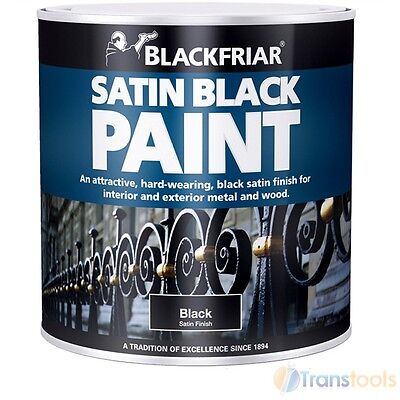 Blackfriar 500ml Wood and Metal Satin Black Paint Black Exterior Interior