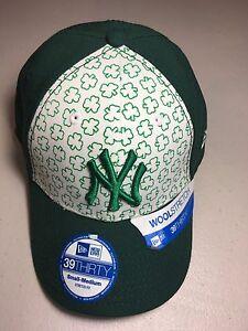 NEW ERA NEW YORK YANKEES GREEN SHAMROCK STRETCH FIT CURVED BRIM HAT ... c458049185a