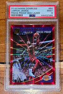 Pop-3-2018-LeBron-James-DONRUSS-PRESS-PROOF-RED-LASER-SPOKES-94-99-PSA-9-BGS