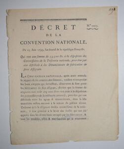 Denonciateurs-Fabrication-Faux-Assignats-DECRET-CONVENTION-NATIONALE-Bezard-1793
