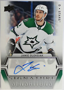 Jamie-Oleksiak-Signature-Sensations-Autograph-2019-20-Upper-Deck-Series-One