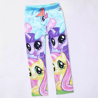 Colorful My Little Pony Kids Girls Princess Clothes Pants Tight Leggings Trouser