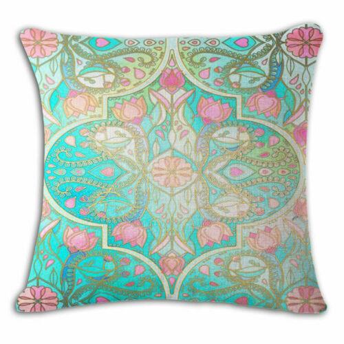 Decorative pattern Cotton Linen Throw Pillow Case Cushion Cover Home Sofa Decor