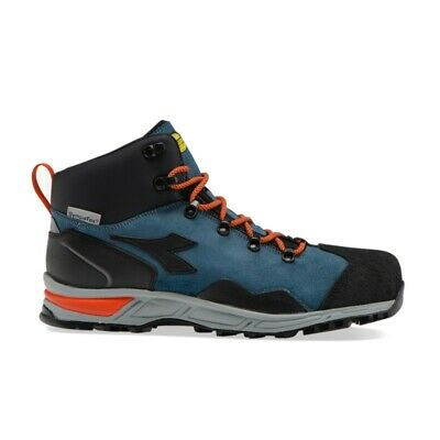 Dettagli su Scarpe antinfortunistiche DIADORA D TRAIL LEATHER HIGH Blu S3 SRA HRO WR 17353