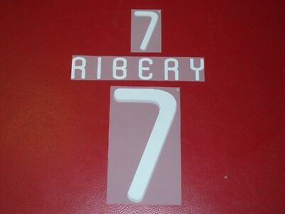 NAME SET FLOCAGE OFFICIEL RIBERY FRANCE NIKE AWAY 2010//2011