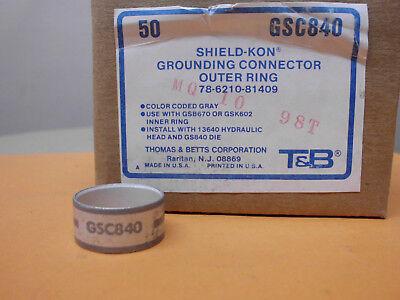 50 X T&b Shield Kon Schirmanschlußringe Neu/ovp ! Gsc840 Kabelkonfektion