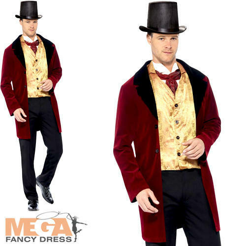 Old Edwardian Gent Mens Fancy Dress Upper Class Victorian Book Day Adult Costume