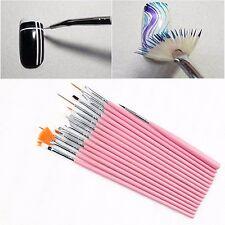 15PCS UV Gel Design Painting Pen Nail Art Brush Set for Salon Manicure DIY Tools