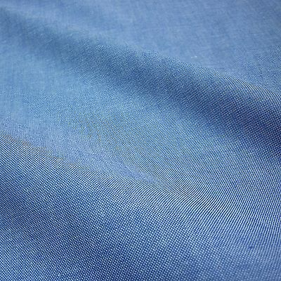 Blue Denim Look 100% Cotton Chambray Fabric *Per Metre*