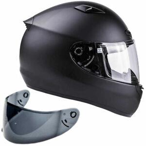 SNELL-M2015-Adult-Motorcycle-Helmet-Large-Matte-Black-DOT-Certified
