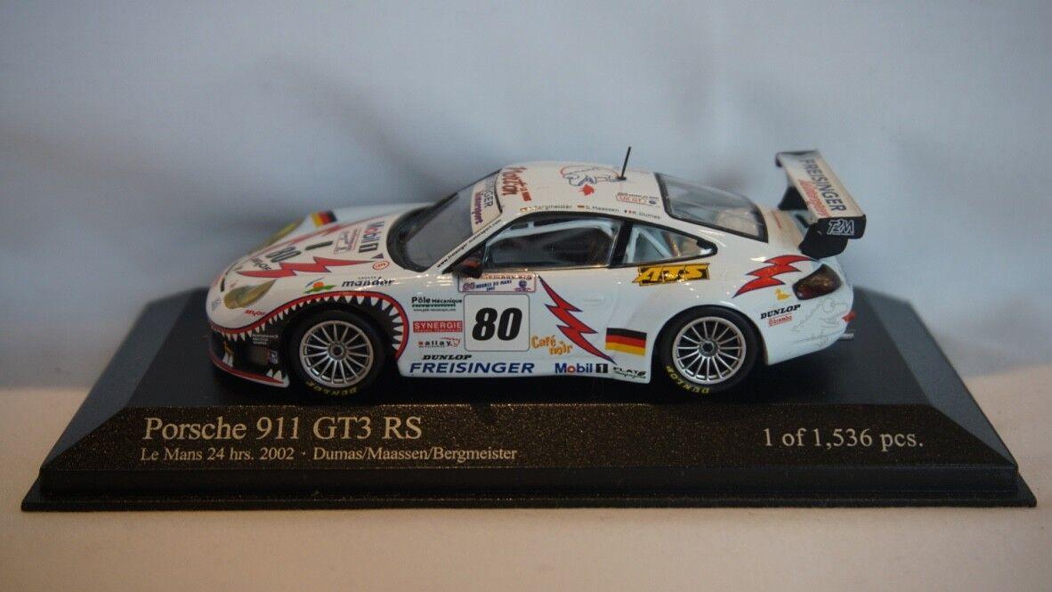 EXTREMELY RARE Minichamps Porsche 911 GT3 RS Le Mans 24hr 2002  43