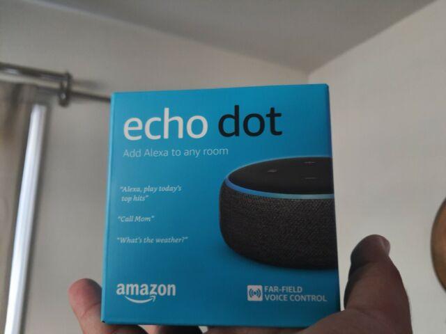 Amazon Echo Dot 3rd Generation with Alexa Voice Media Device - Charcoal NEW