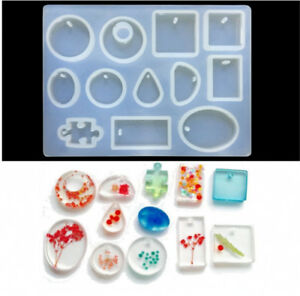 12-Silicone-Mould-Pendant-Jewelry-Making-Necklace-Mold-Craft-DIY-Resin-Round-GN