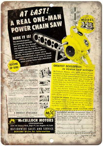 Muculloch-Motors-Corporation-Chain-Saw-Ad-12-034-X-9-034-Retro-Look-Metal-Sign-Z35