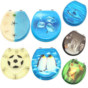 3d Mdf Resin Beach Penguin Frog Bathroom Toilet Wc Seat