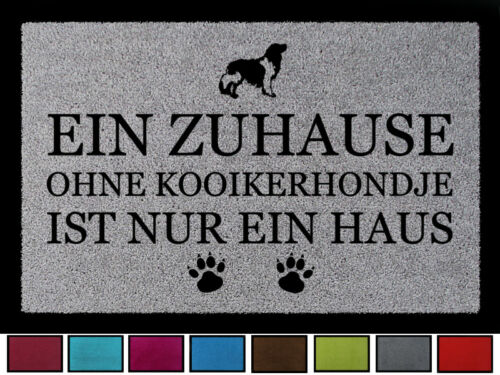 Fussmatte felpudos un hogar sin Kooikerhondje perro muchos colores
