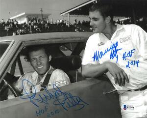 RICHARD PETTY & MAURICE PETTY SIGNED AUTOGRAPHED 8x10 PHOTO + HOF BECKETT BAS