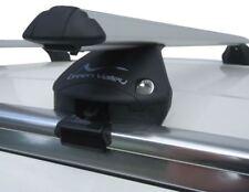BLACK ROOF RACK CROSS BARS CROSS FLUSH RAISL LOCKABLE FOR AUDI Q3 SUV 2012-ONWARDS