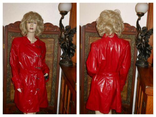 M Shiny Red PVC Vinyl Raincoat vinyl Rain Jacket H