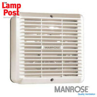 "Manrose 9"" 230mm Commercial Industrial Wall Extractor Fan with Shutter"