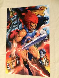 1985-Vintage-Line-Thundercats-Lion-O-Panthro-Mumm-Ra-Poster-Picture-11x17-FREESP