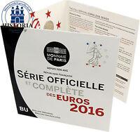 Frankreich 3,88 Euro 2016 stgl. KMS 1 Cent bis 2 Euro Kursmünzen im Folder