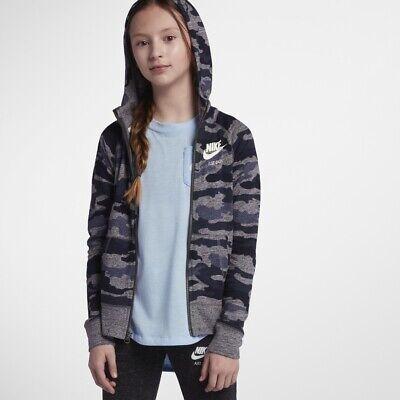 Nike (Kids) Girls' Vintage BueMulti Camo P Full Zip Hoodie (AQ0604 471) MLXL | eBay