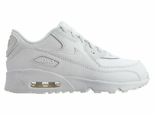 Details about Nike Air Max 90 Ltr Little Kids 833414 100 White Athletic Shoes Youth Size 13.5