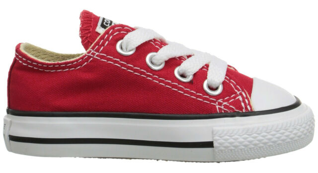 d4b22b45e08d Converse OX Low Tops Red All Sizes Infant Toddler Baby Boys or Girls Kids  Shoes