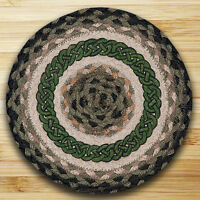 Irish Celtic Knot 100% Natural Jute Swatch, 10 Trivet/placemat, By Earth Rugs